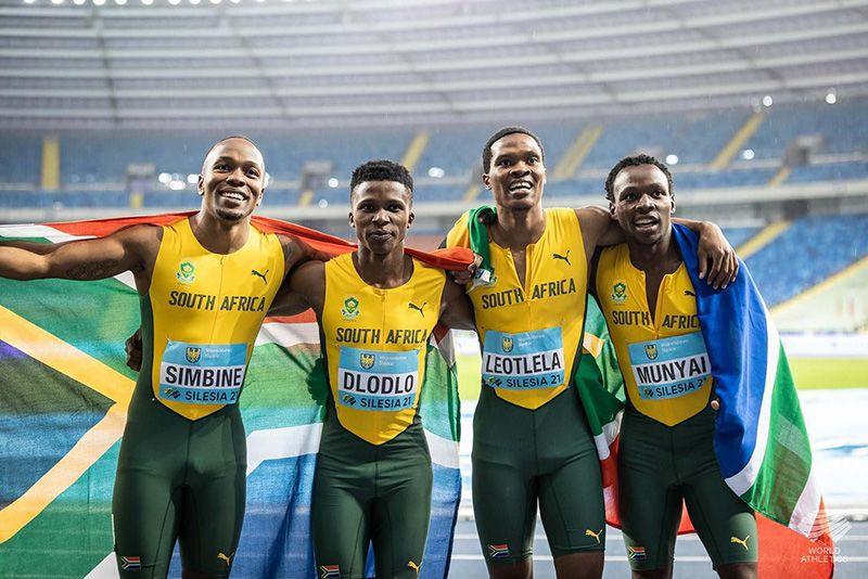 Sport,tokyo olympics,south africa,south africa relay,mens 4 x 100 relay,akani simbini,team sa,